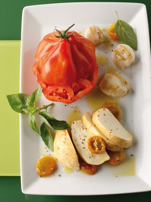 ochsenherz tomaten mit mozzarella rezept essen und trinken. Black Bedroom Furniture Sets. Home Design Ideas