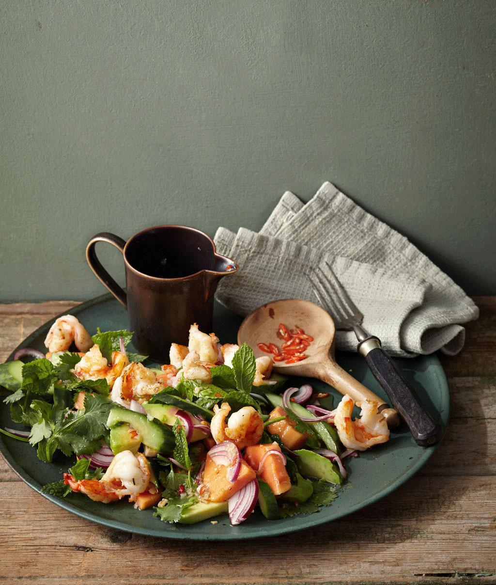 avocado papaya salat rezept essen und trinken. Black Bedroom Furniture Sets. Home Design Ideas