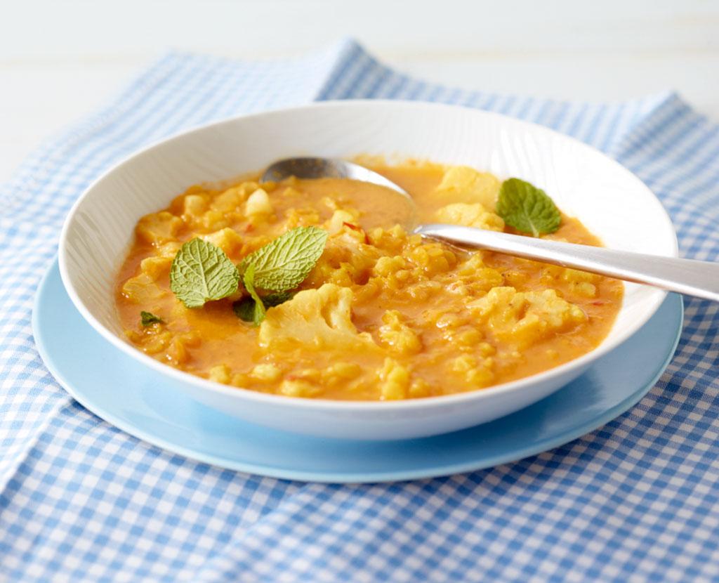 linsen blumenkohl suppe rezept essen und trinken. Black Bedroom Furniture Sets. Home Design Ideas