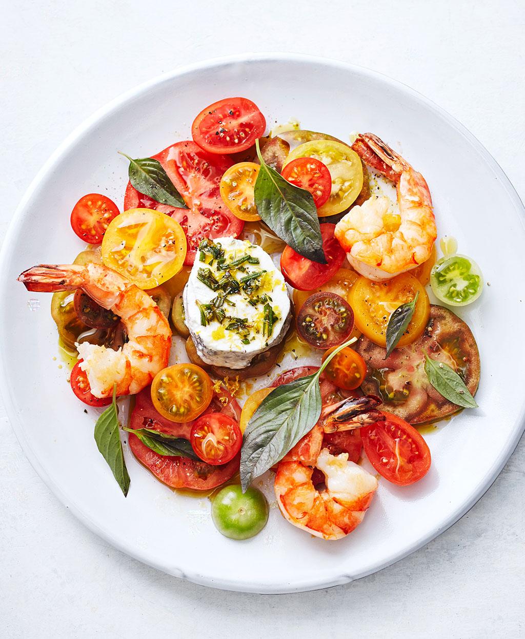 tomatensalat mit garnelen rezept essen und trinken. Black Bedroom Furniture Sets. Home Design Ideas