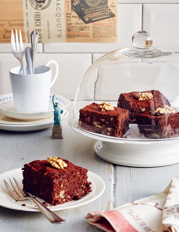 walnuss brownies rezept essen und trinken. Black Bedroom Furniture Sets. Home Design Ideas