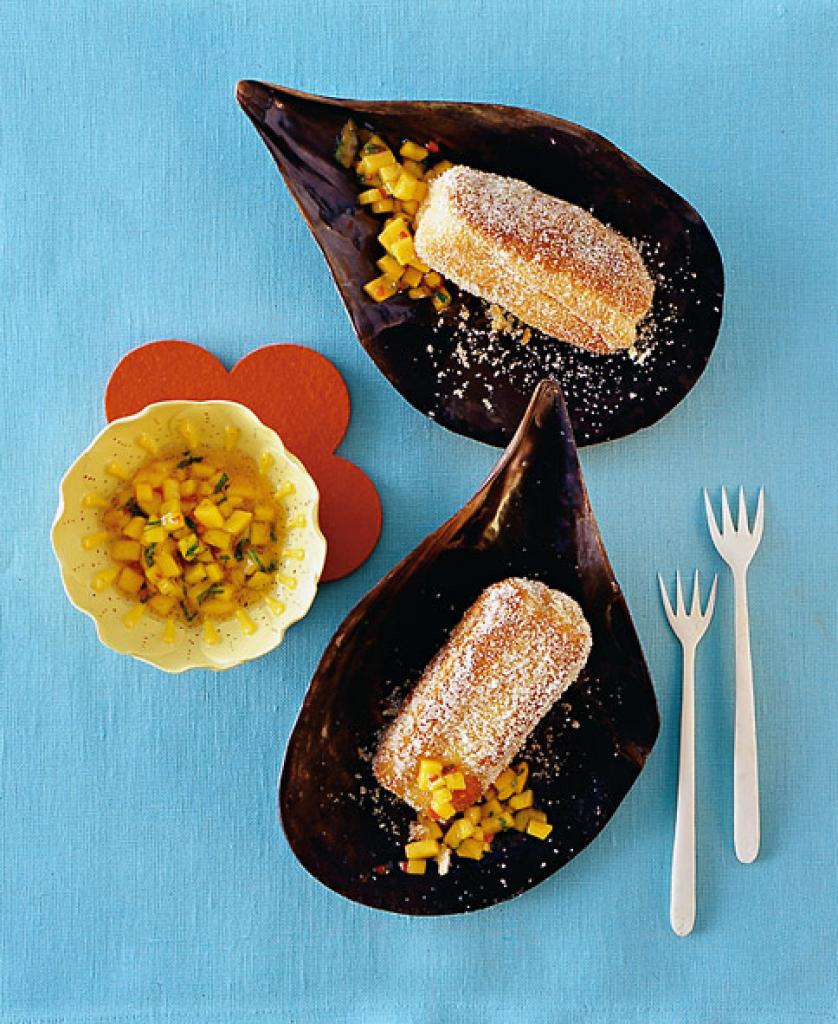 arme ritter mit mango relish rezept essen und trinken. Black Bedroom Furniture Sets. Home Design Ideas