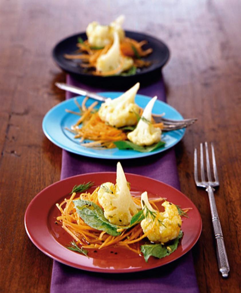 blumenkohlsalat mit honigvinaigrette rezept essen und trinken