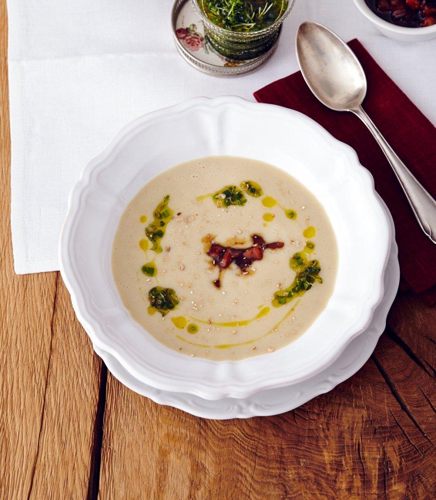 cremige maronen kartoffel suppe rezept essen trinken. Black Bedroom Furniture Sets. Home Design Ideas