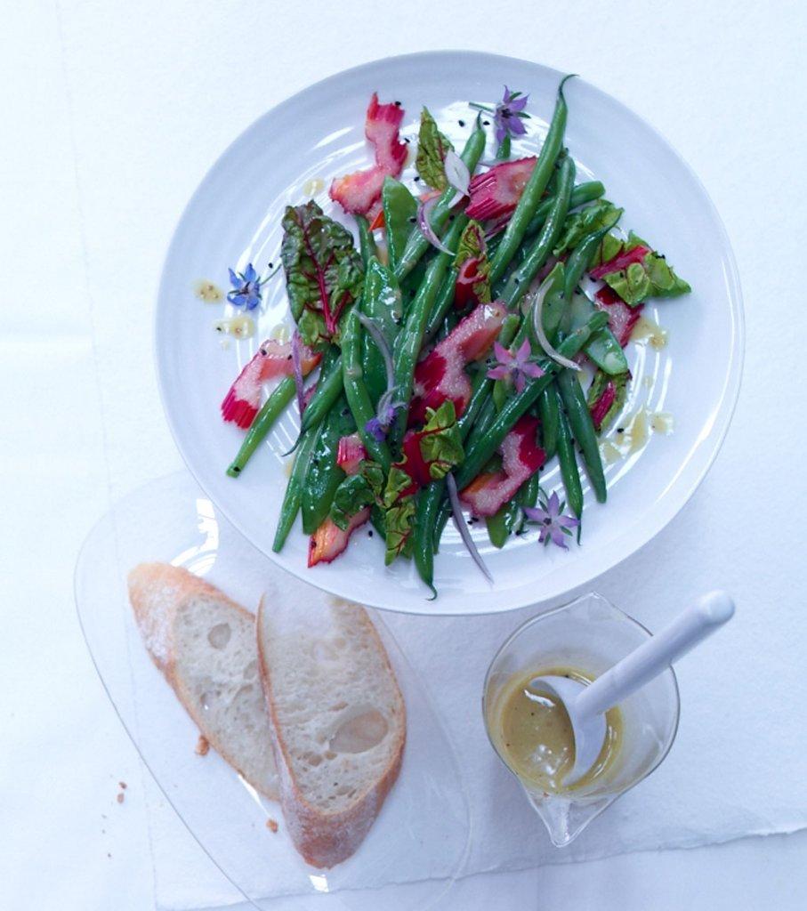 mangold bohnen salat rezept essen trinken. Black Bedroom Furniture Sets. Home Design Ideas