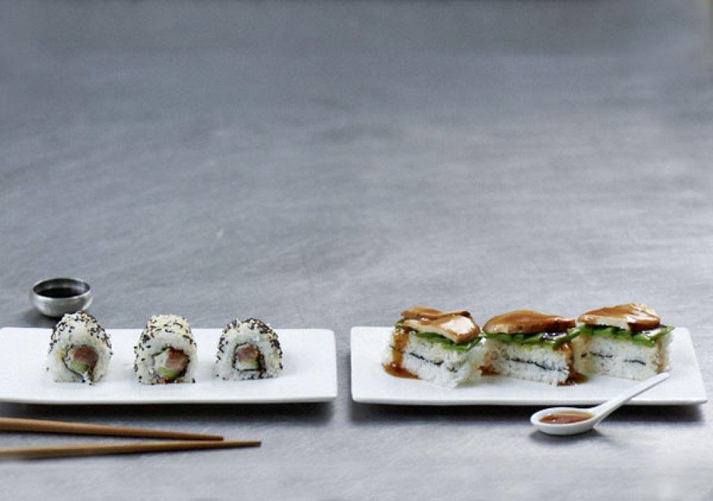 sushi schnitten rezept essen und trinken. Black Bedroom Furniture Sets. Home Design Ideas
