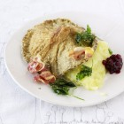 Austernpilz-Schnitzel mit Kartoffelpüree