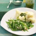 Erbsen-Zuckerschoten-Gemüse mit Kartoffeln