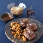 Hirschsteaks mit Pfifferlingen und Schoko-Nougat-Sauce