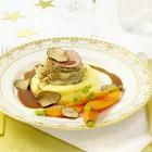 Kalbsfilet mit Lardo und Portweinsauce