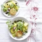 Kartoffel-Gurken-Salat mit Ziegenkäse