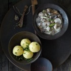 Kartoffelklöße mit Pilzragout