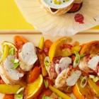 Ofenhähnchen mit Apfelsinen