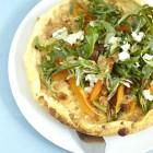 Omelette mit marinierten Möhren