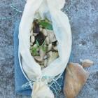 Palbohnen mit Steinpilzen