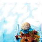 Quark-Soufflé mit Zitrusfrüchte-Ragout