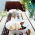 Reis-Mousse mit Paprika und Aprikosensauce