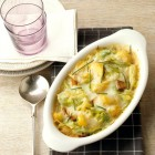 Weißkohl-Kartoffel-Auflauf mit Tofu