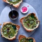 Filoteig-Tartelettes mit asiatischer Gemüsefüllung