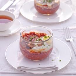 Englisches Frühstück im Glas