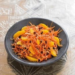 Möhrensalat mit Orangenfilets
