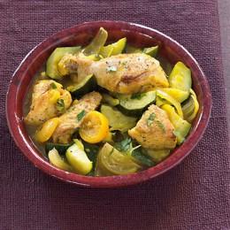 Poularden-Tajine mit Salzzitronen