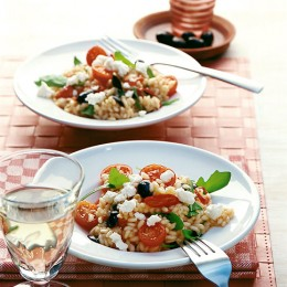 Tomaten-Rauke-Risotto