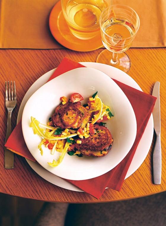 Auberginen-Piccata mit Pizzaiola-Vinaigrette