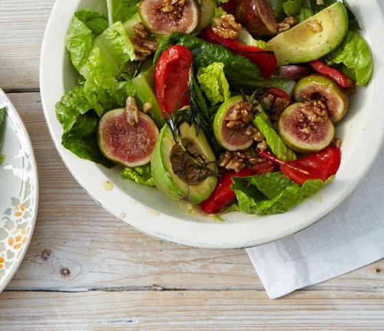 avocado salat mit feigen rezept essen trinken. Black Bedroom Furniture Sets. Home Design Ideas