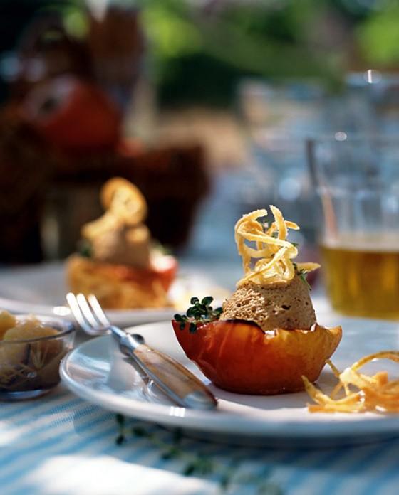 Bratapfel mit Kalbslebermousse