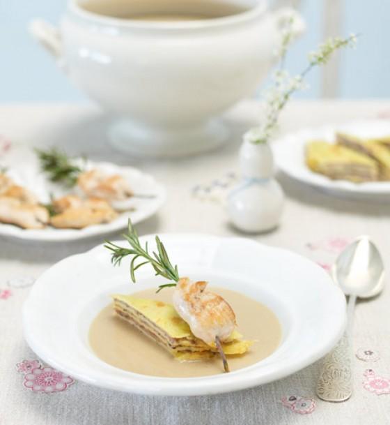 Crépe-Pilz-Kuchen