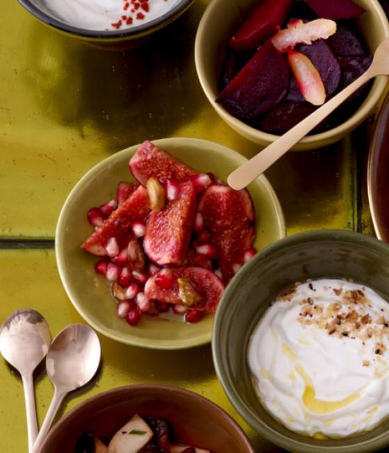 Feigen mit Granatapfel