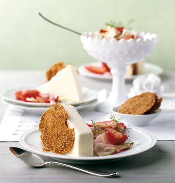Fenchelparfait Fenchel-Erdbeer-Salat