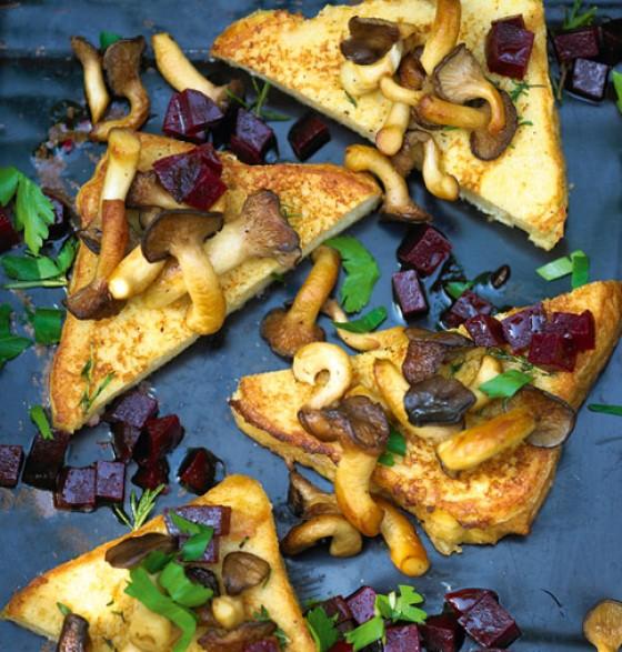 French Toast mit Kräuterseitlingen