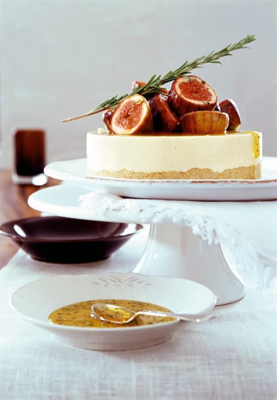 Honigparfait mit Rosmarinfeigen