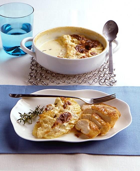 Kartoffel-Sellerie-Gratin