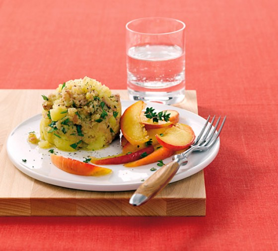 Kartoffelstampf mit Kalbsleberwurst