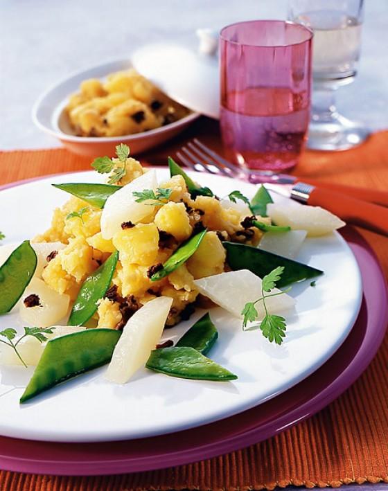Kartoffelstampf mit feinem Gemüse