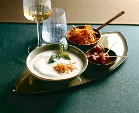 Kokosnuss-Parmesan-Suppe