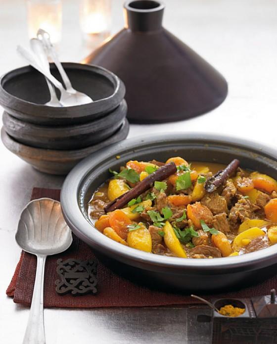 Lamm- Kartoffel-Tajine mit Safran