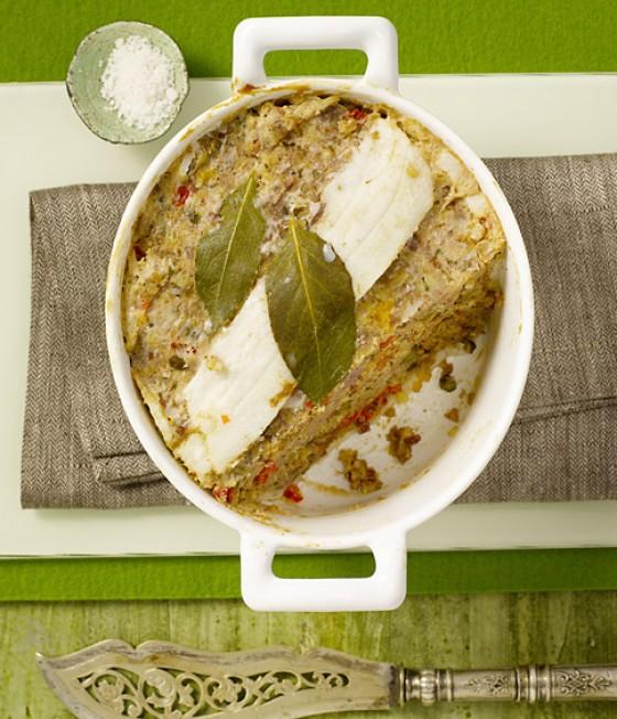 Lamm-Terrine mit Aprikosen und Feigenbrot