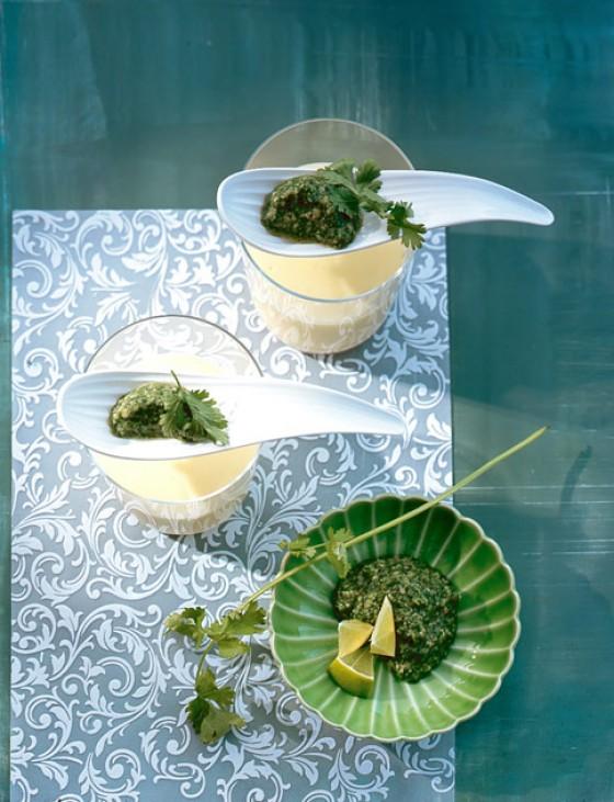 Limetten-Buttermilch-Mousse