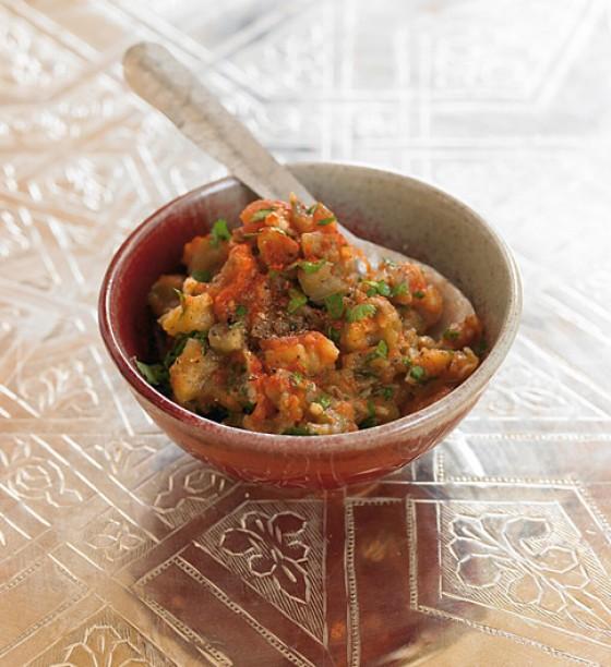 Marokkanisches Auberginenpüree