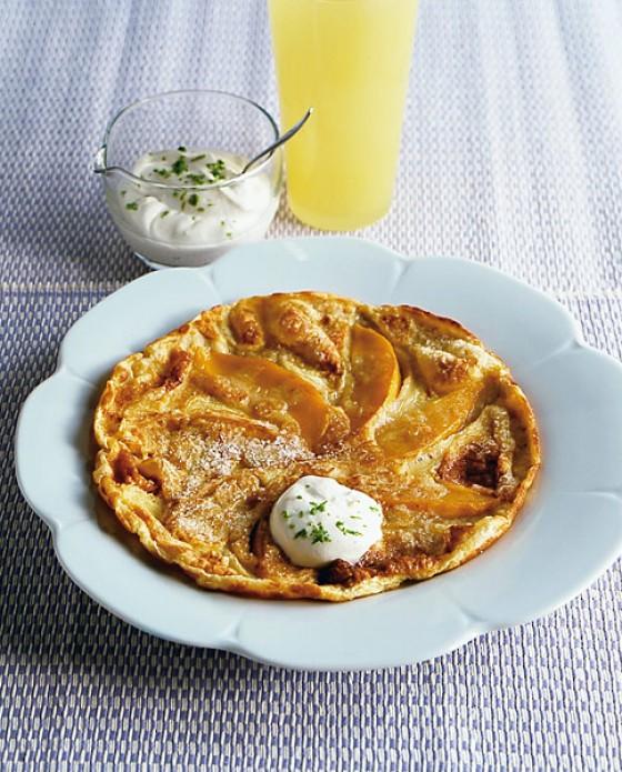Pfannkuchen mit Mango