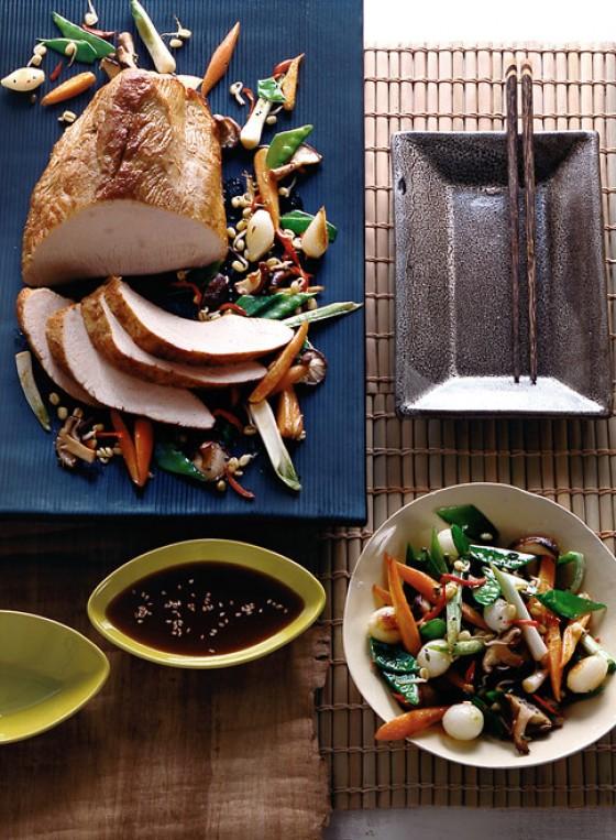 Putenbrust mit Asia-Gemüse