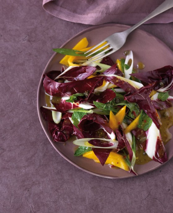 Radicchio-Salat mit Mango