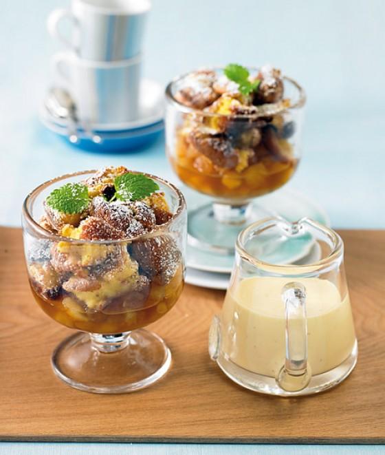 Rahmschmarren mit Vanille-Maracuja-Sauce