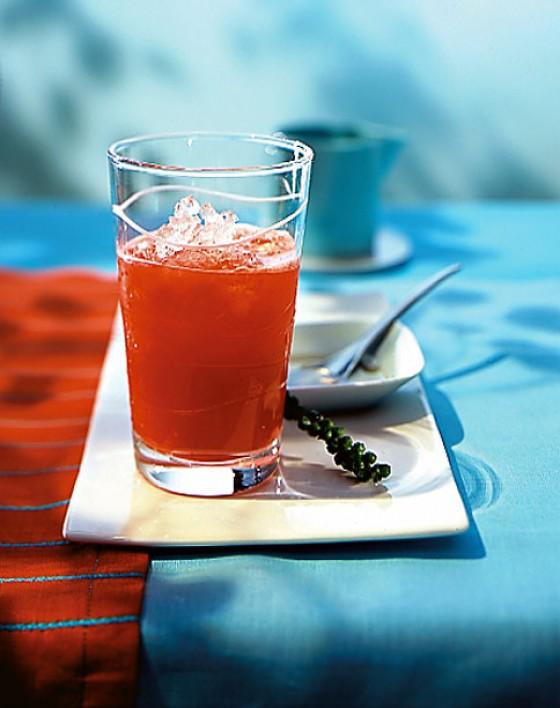 Rhabarber-Erdbeer-Drink