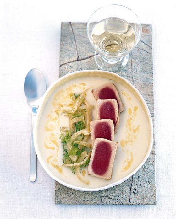 Thunfisch mit Fenchelcreme
