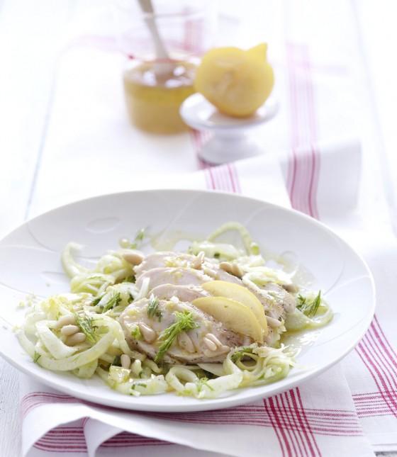 Zitronen-Hähnchen-Salat